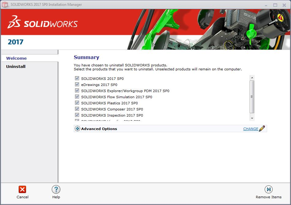 solidworks installation manager summary