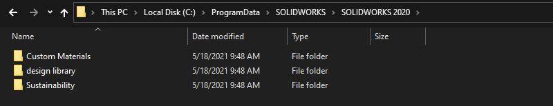 Upgrade SOLIDWORKS Version Folder Location