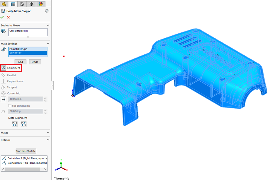 Using Origin Points as Constraint in SOLIDWORKS