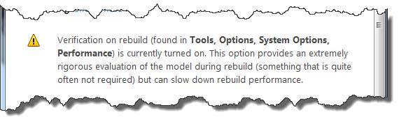Verification on Rebuild SOLIDWORKS Large Assemblies