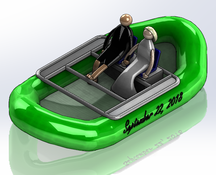 Water raft CAD Design