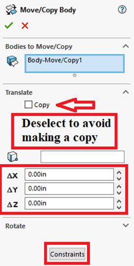 Move/Copy Body Options