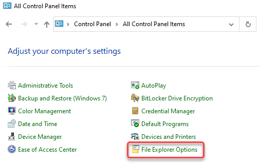 Windows Control Panel SOLIDWORKS Thumbnail Preview