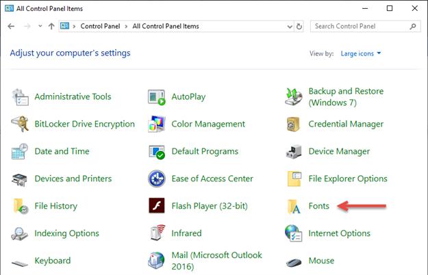 Windows Font Folder Installing a New Font in SOLIDWORKS