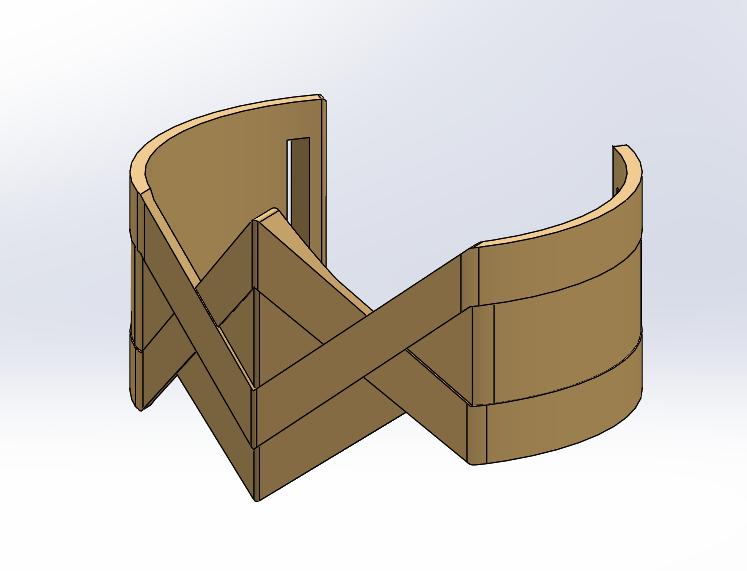 Wonder Woman Arm Band CAD Design