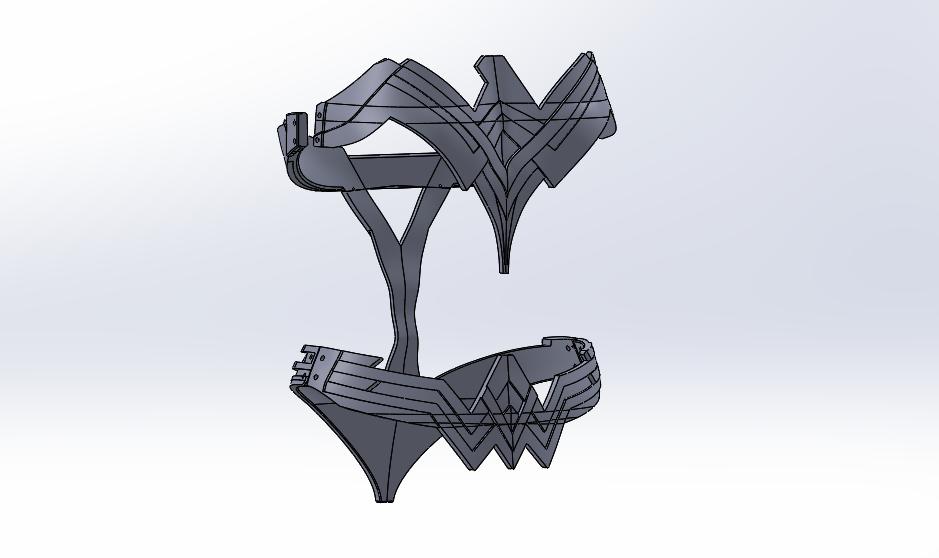 Wonder Woman Armor CAD Design