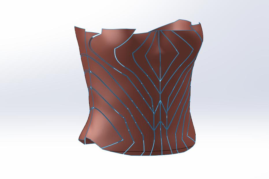 Wonder Woman Body Armor CAD Design