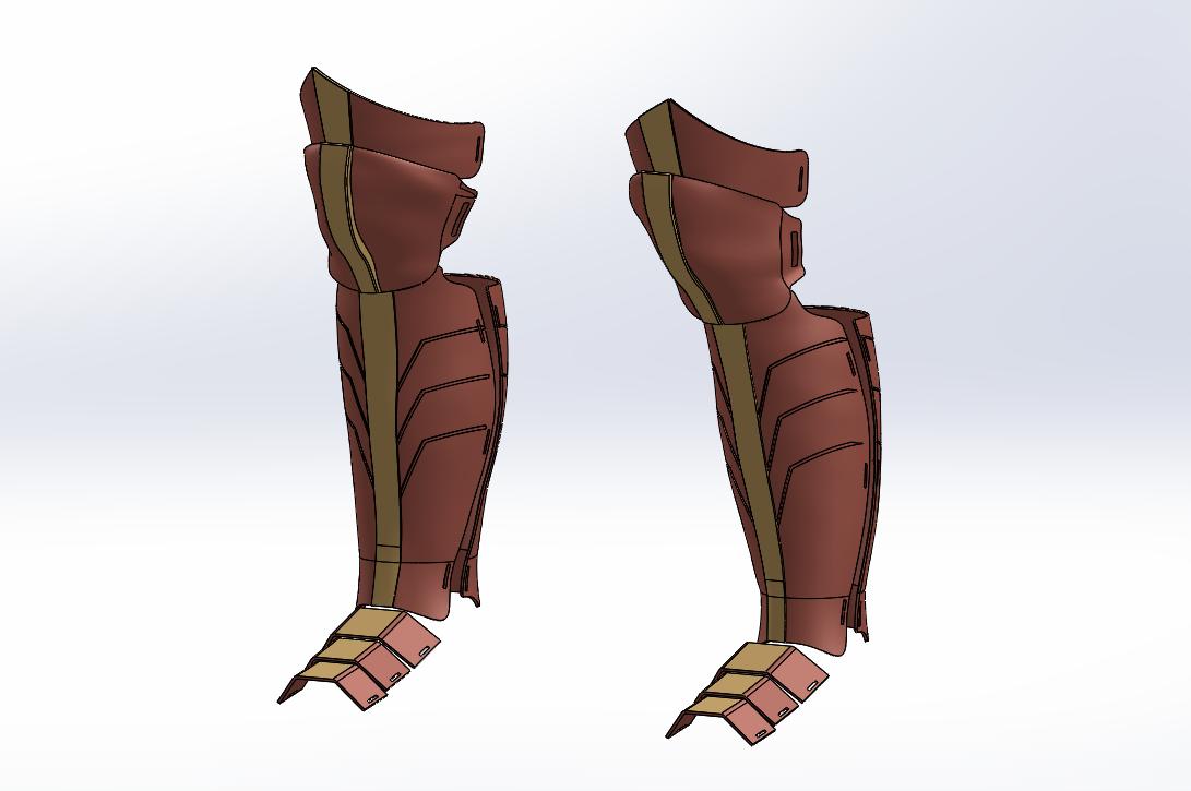 Wonder Woman Boots CAD Design