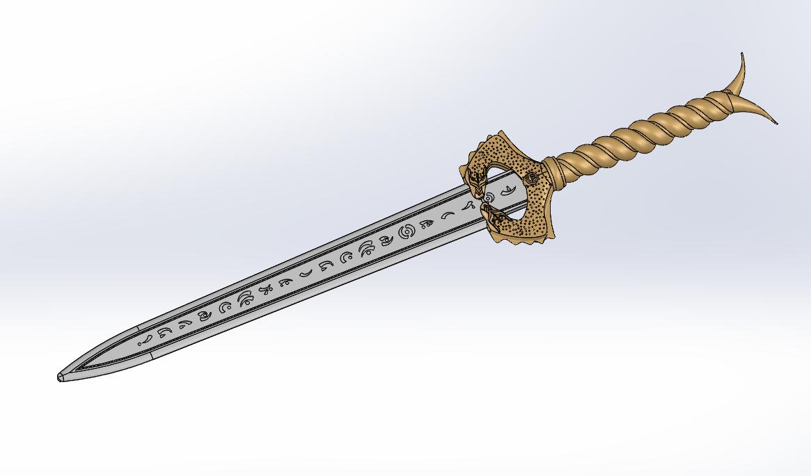 Wonder Woman Sword CAD Design