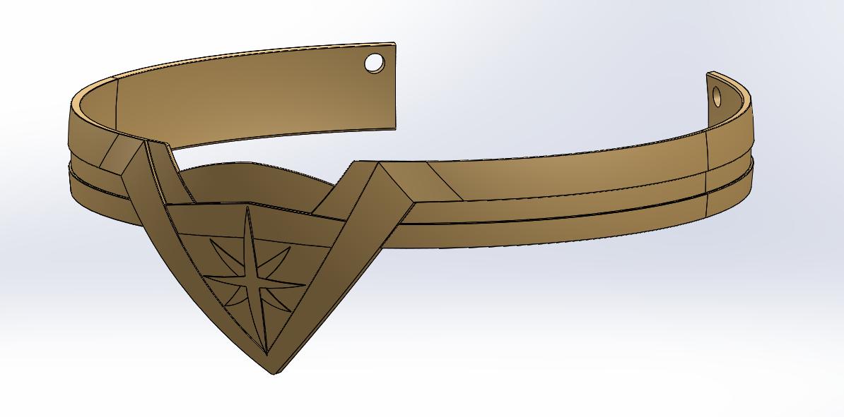 Wonder Woman Tiara CAD Design